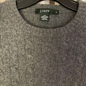 J. Crew Lambswool & Cashmere Cable Knit Sweater